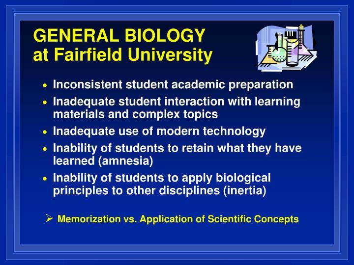 GENERAL BIOLOGY