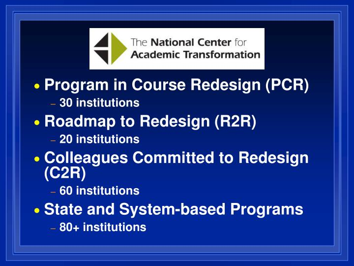 Program in Course Redesign (PCR)