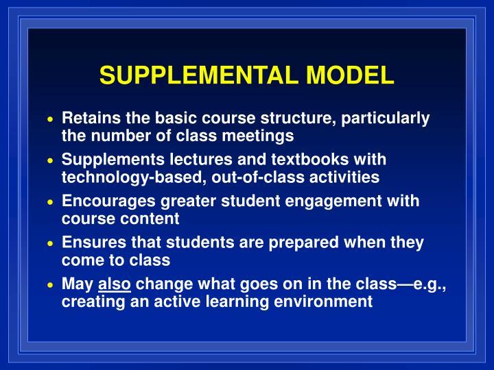 SUPPLEMENTAL MODEL