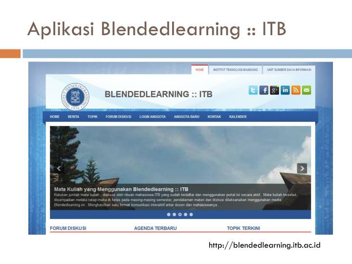 Aplikasi Blendedlearning :: ITB