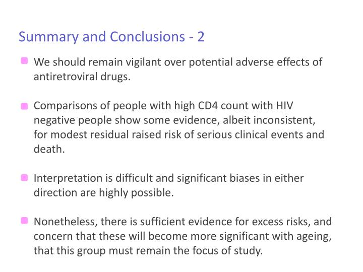 Summary and Conclusions - 2