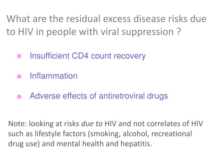 What are the residual excess disease risks