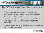 2002 norwalk agreement reaffirmed in 2005