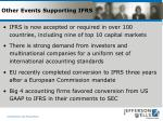 other events supporting ifrs