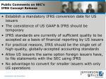 public comments on sec s ifrs concept release