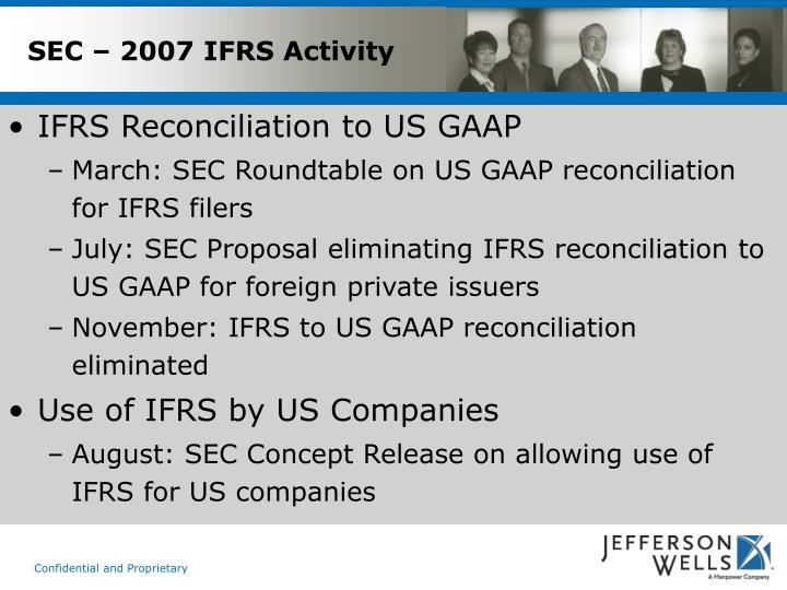 SEC – 2007 IFRS Activity