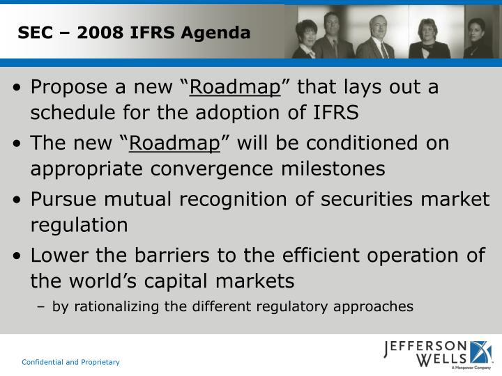 SEC – 2008 IFRS Agenda
