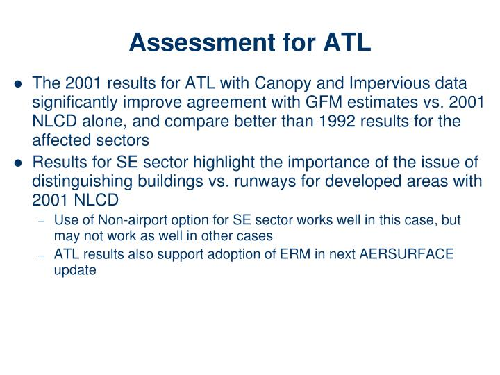 Assessment for ATL