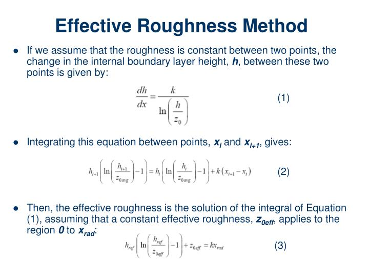 Effective Roughness Method
