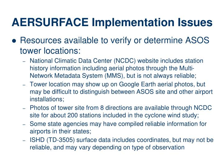 Resources available to verify or determine ASOS tower locations: