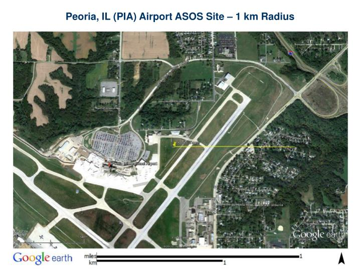 Peoria, IL (PIA) Airport ASOS Site – 1 km Radius