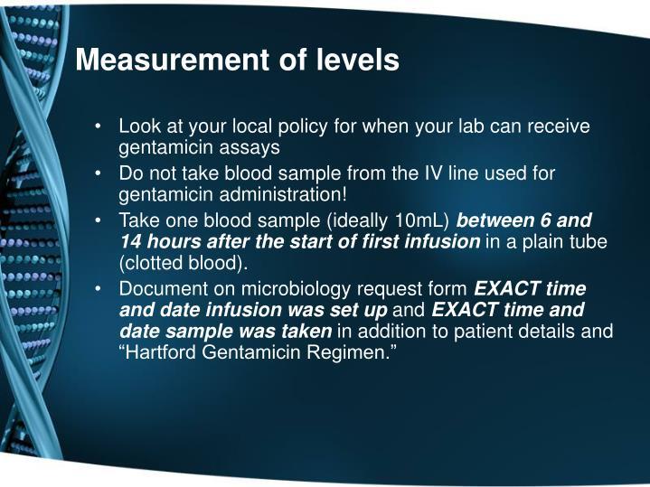 Measurement of levels