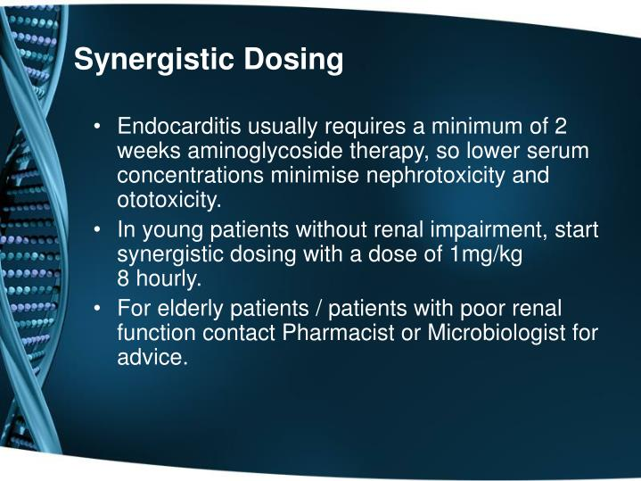 Synergistic Dosing