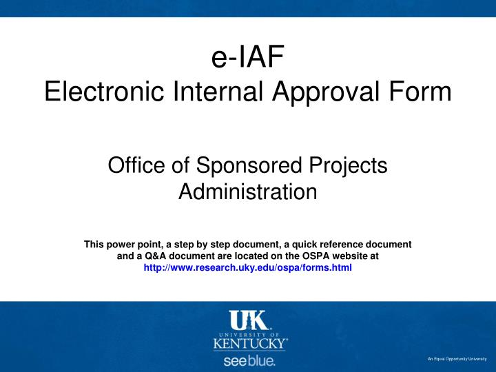 e iaf electronic internal approval form