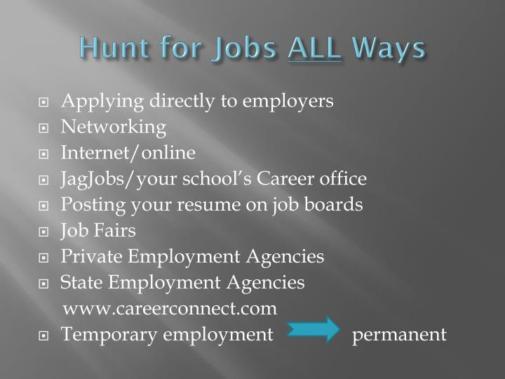 Hunt for Jobs