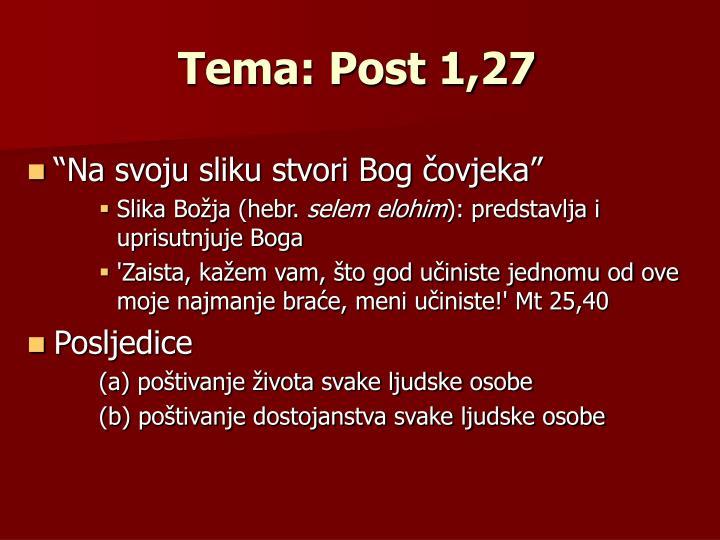 Tema: Post 1,27