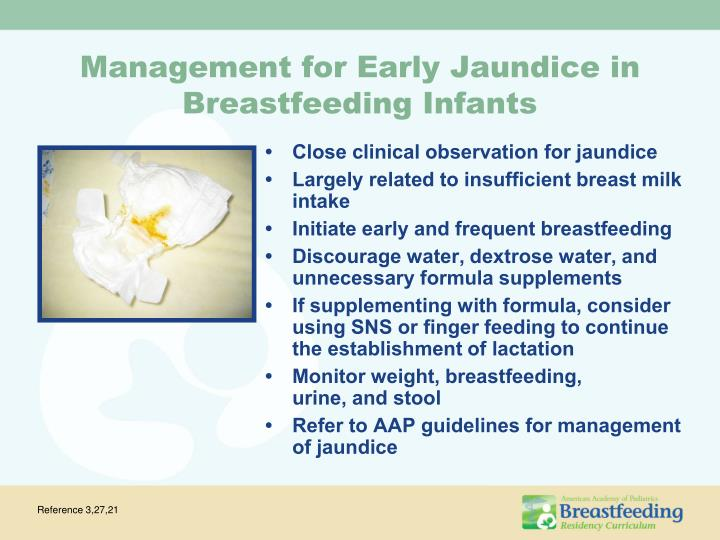 Management for Early Jaundice in Breastfeeding Infants