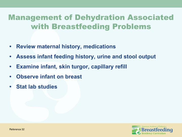 Management of Dehydration Associated with Breastfeeding Problems
