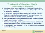 treatment of candidal nipple infections general
