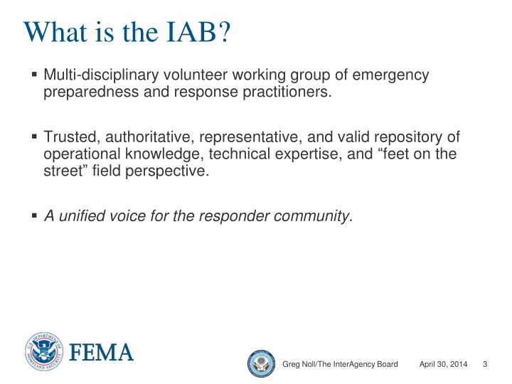 What is the IAB?