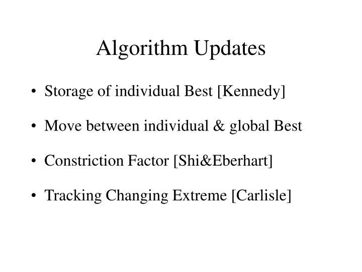 Algorithm Updates