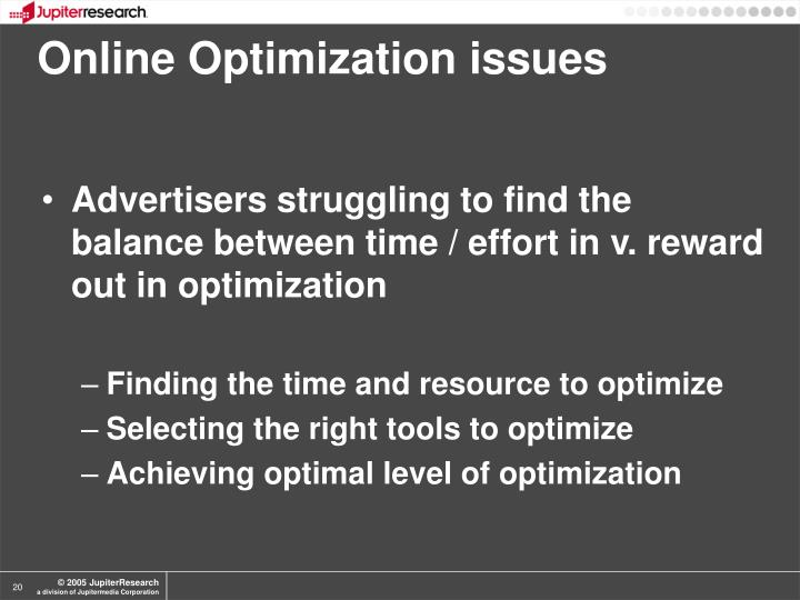 Online Optimization issues
