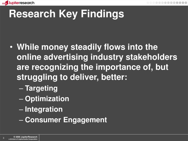 Research Key Findings