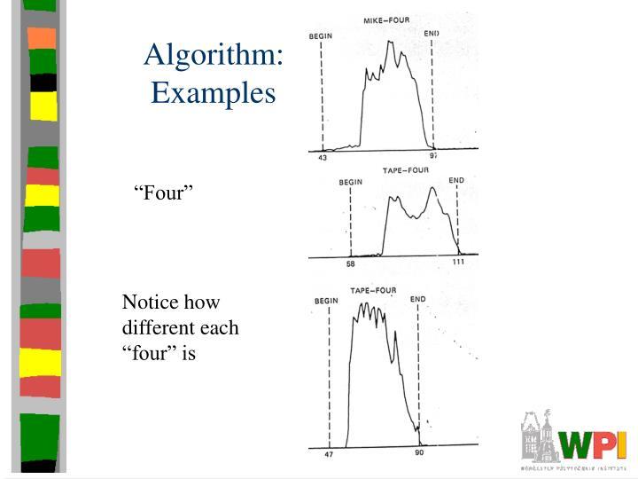 Algorithm: Examples