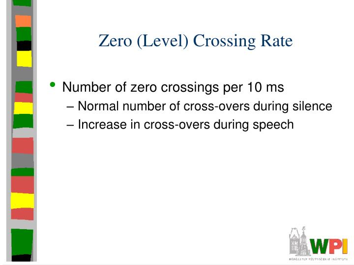 Zero (Level) Crossing Rate