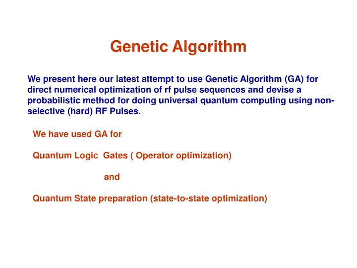 Genetic Algorithm