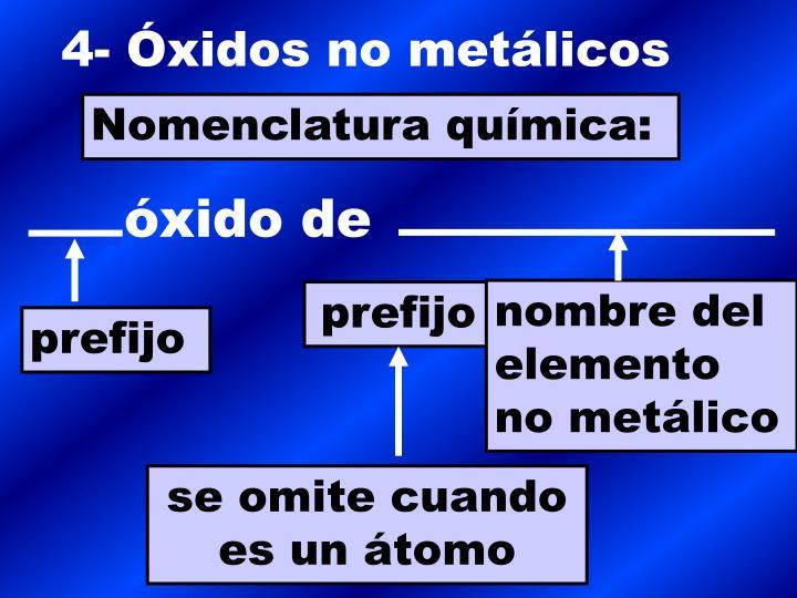 4- Óxidos no metálicos