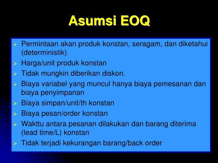 Asumsi EOQ