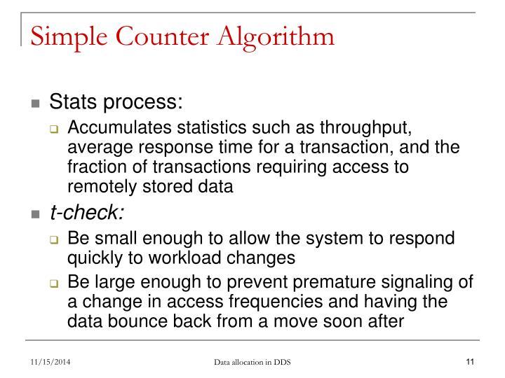 Simple Counter Algorithm