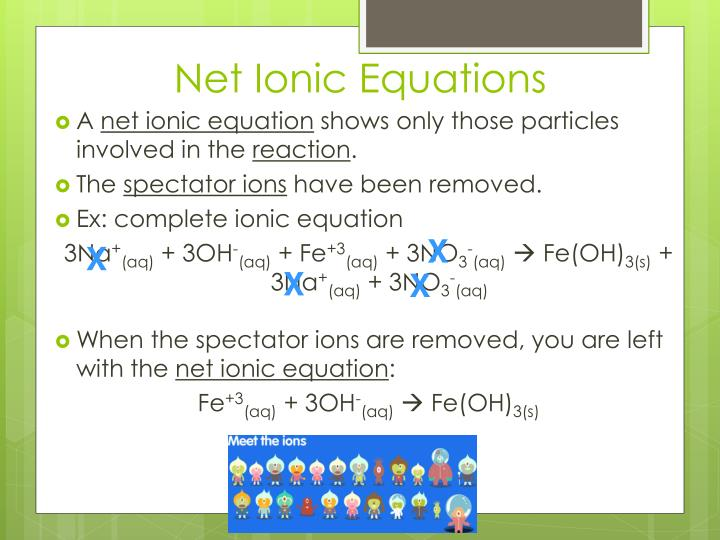 How to write a ionic equation