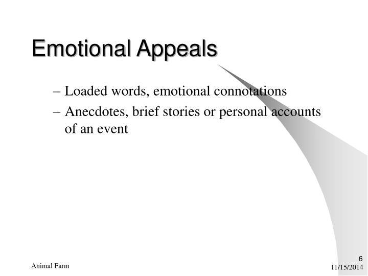 Emotional Appeals