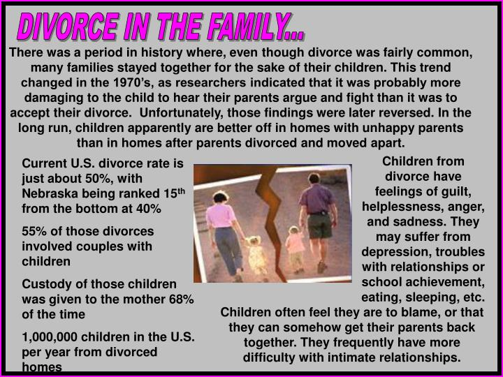 DIVORCE IN THE FAMILY...