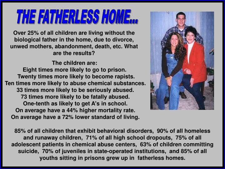 THE FATHERLESS HOME...