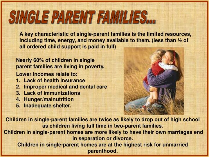 SINGLE PARENT FAMILIES...