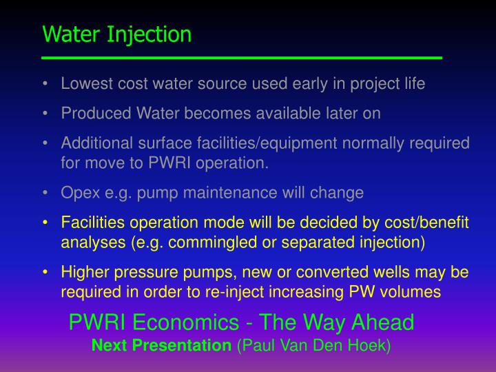 Water Injection