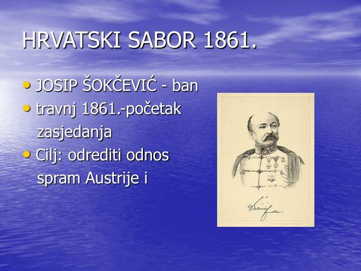 HRVATSKI SABOR 1861.