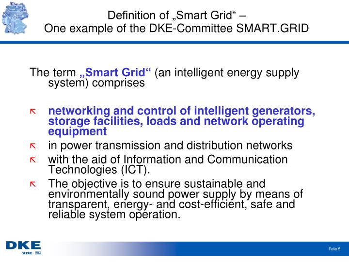 "Definition of ""Smart Grid"" –"