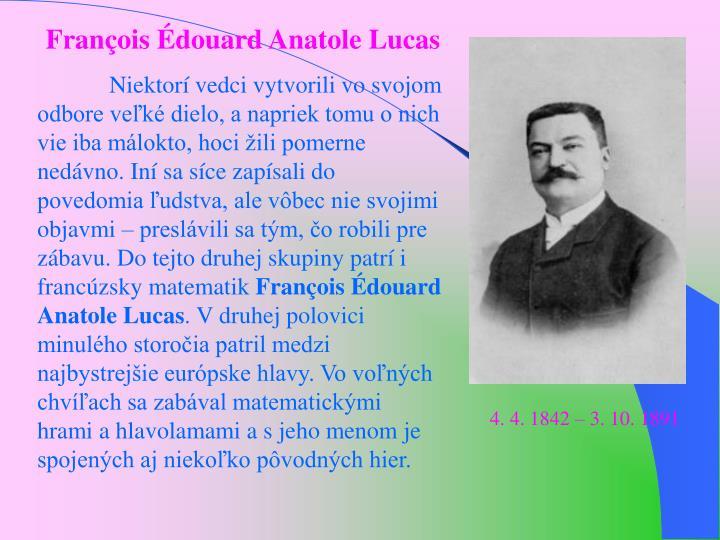 Franois douard Anatole Lucas
