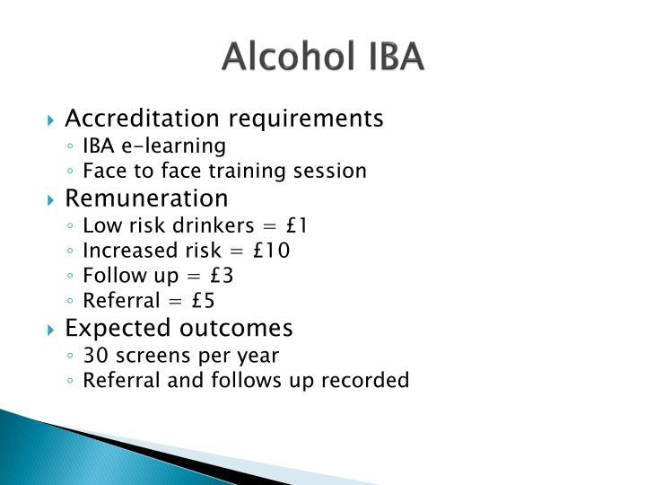 Alcohol IBA