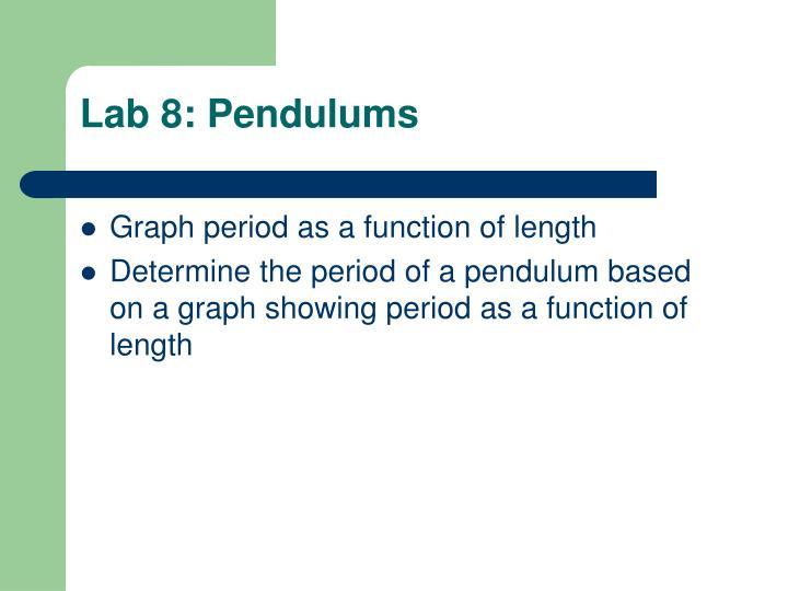 Lab 8: Pendulums