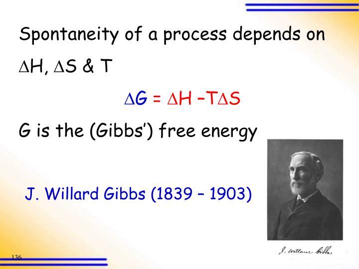 J. Willard Gibbs (1839 – 1903)