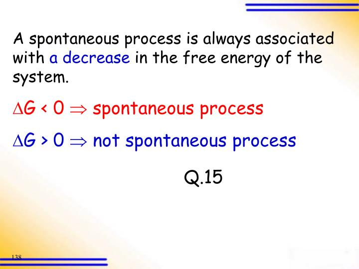 A spontaneous process is always associated with