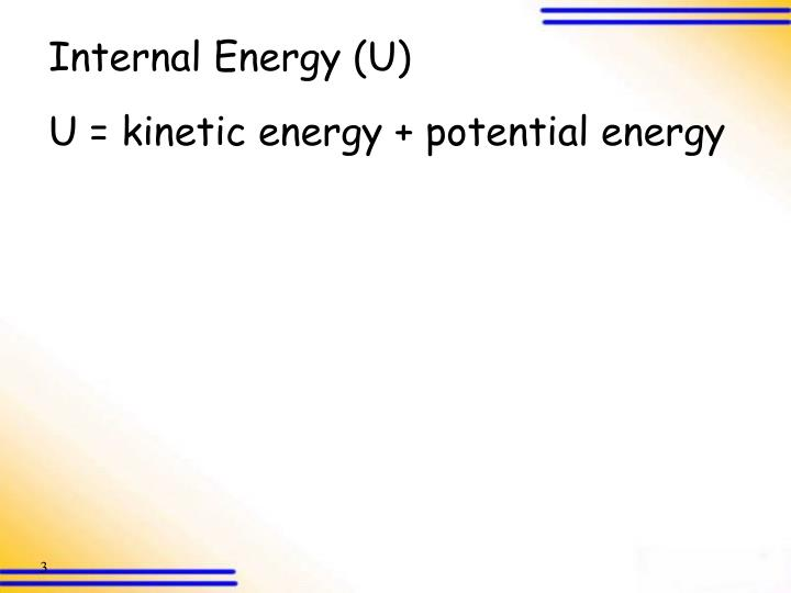 Internal Energy (U)