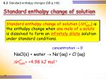 standard enthalpy change of solution1