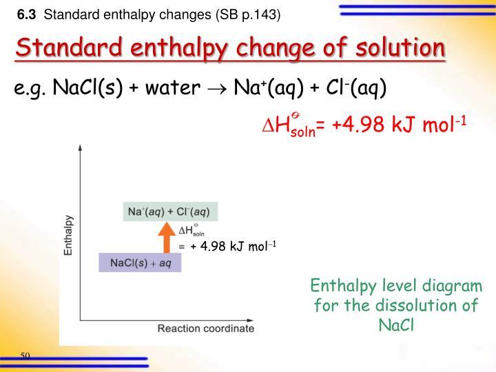 e.g. NaCl(s) + water