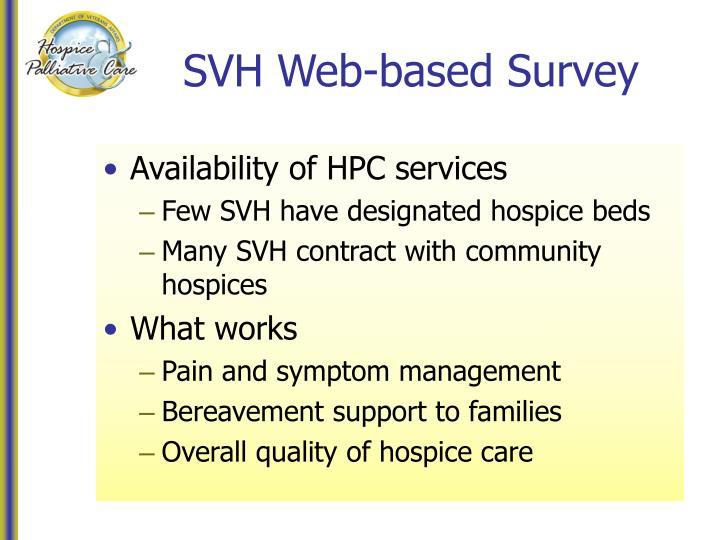 SVH Web-based Survey